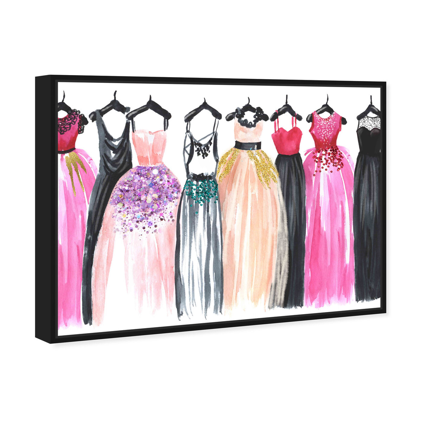 Angled view of Our Glam Dresses featuring fashion and glam and sketches art.