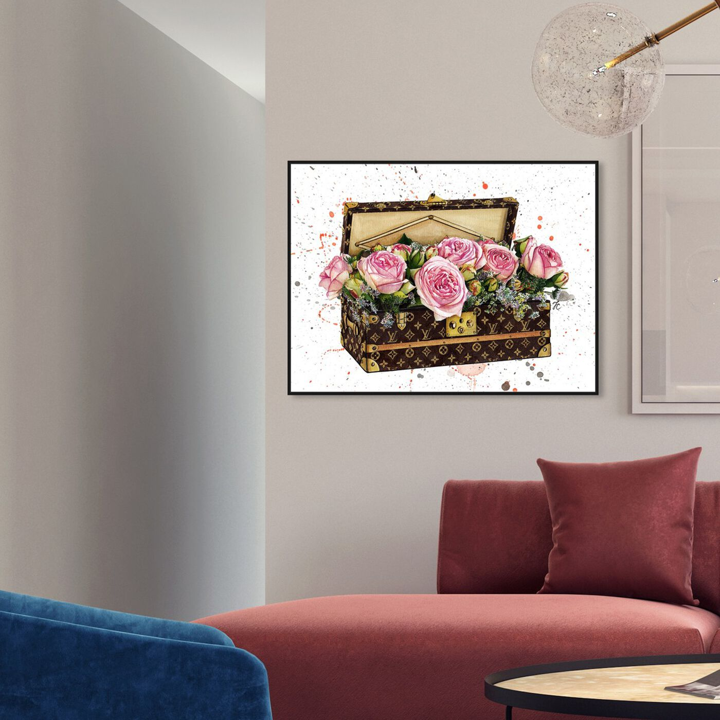 Hanging view of Doll Memories - Trunk of Roses featuring fashion and glam and travel essentials art.