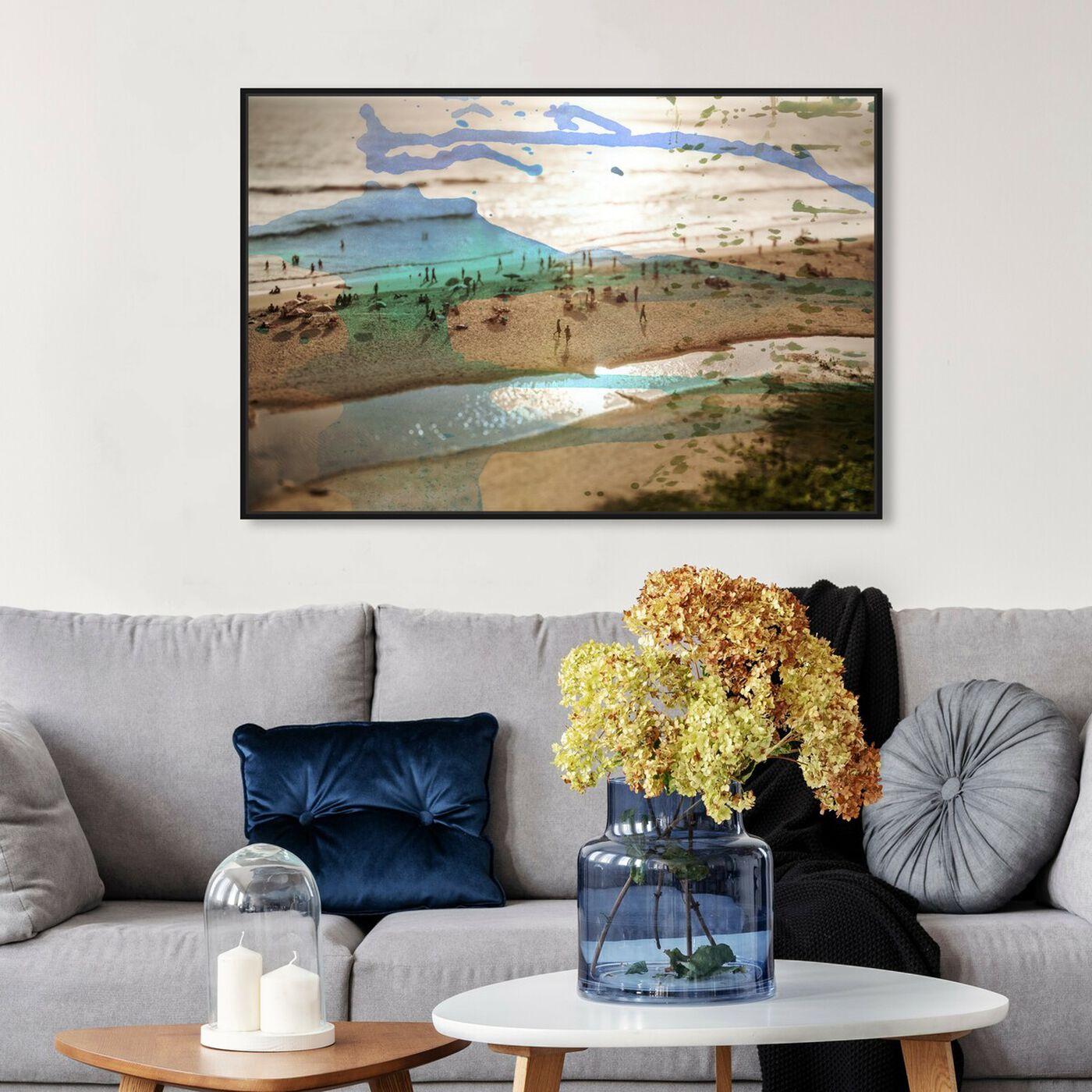 Hanging view of Tunitas Beach featuring nautical and coastal and coastal art.