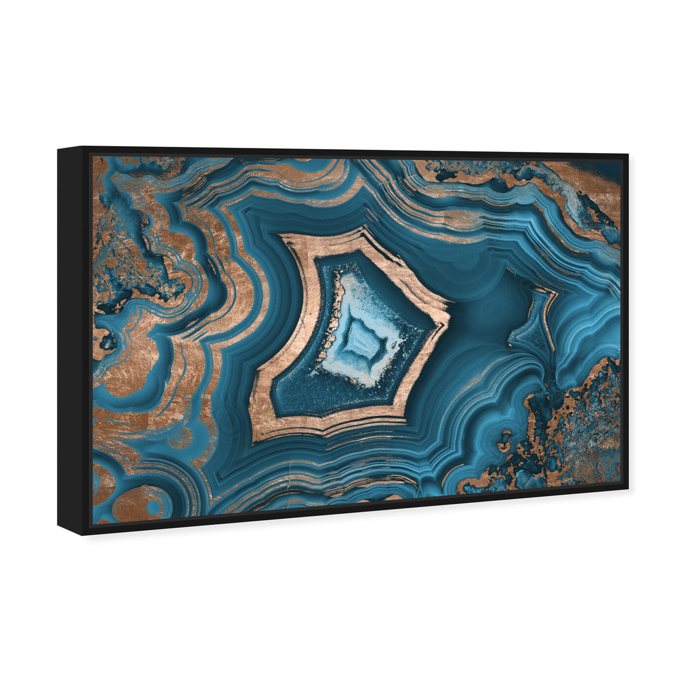 Angled view of Dreaming About You Geode featuring abstract and crystals art.