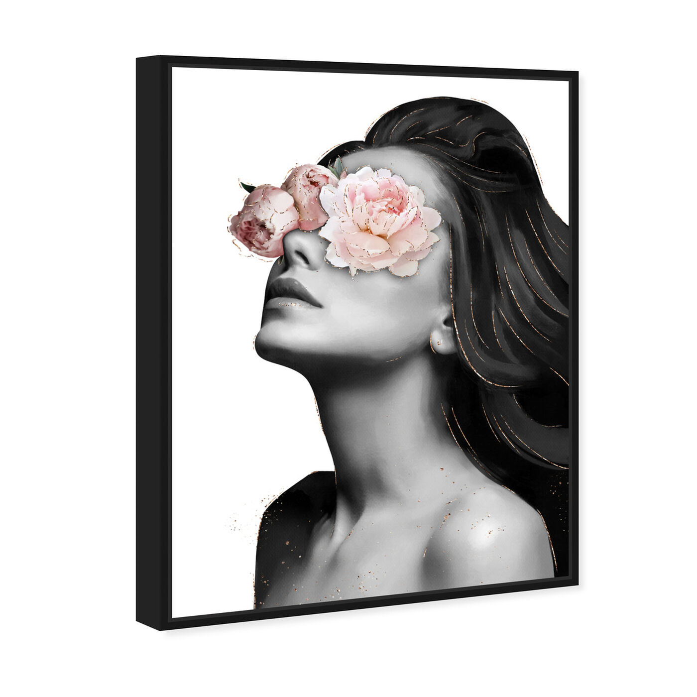 Angled view of Floral Beauty VI featuring floral and botanical and florals art.