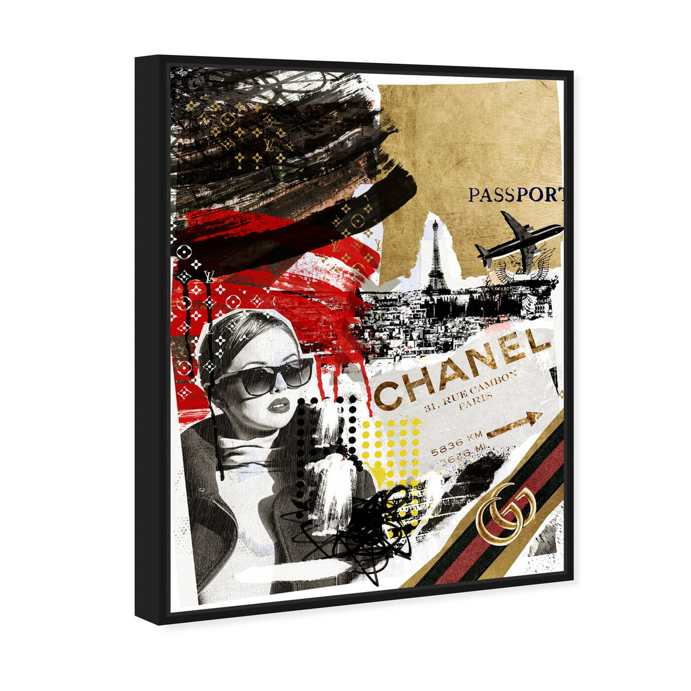 Angled view of Passport to Paris featuring fashion and glam and travel essentials art.