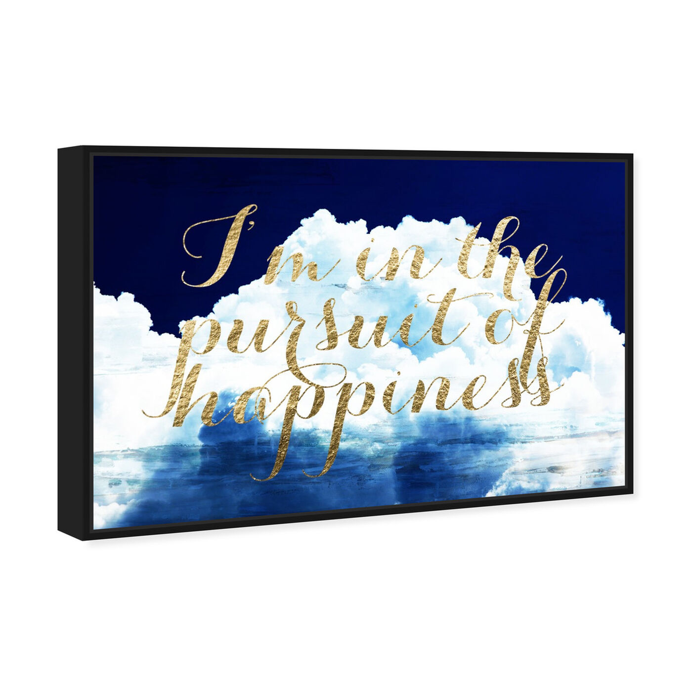 Angled view of Happiness Overall featuring typography and quotes and inspirational quotes and sayings art.