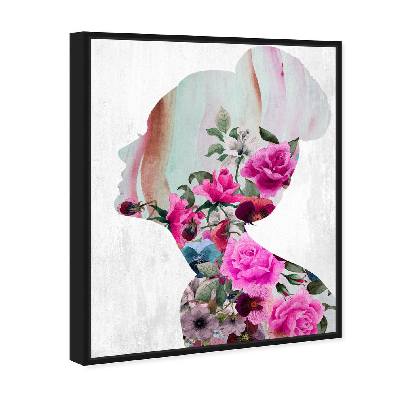 Angled view of Flower Built I featuring floral and botanical and florals art.
