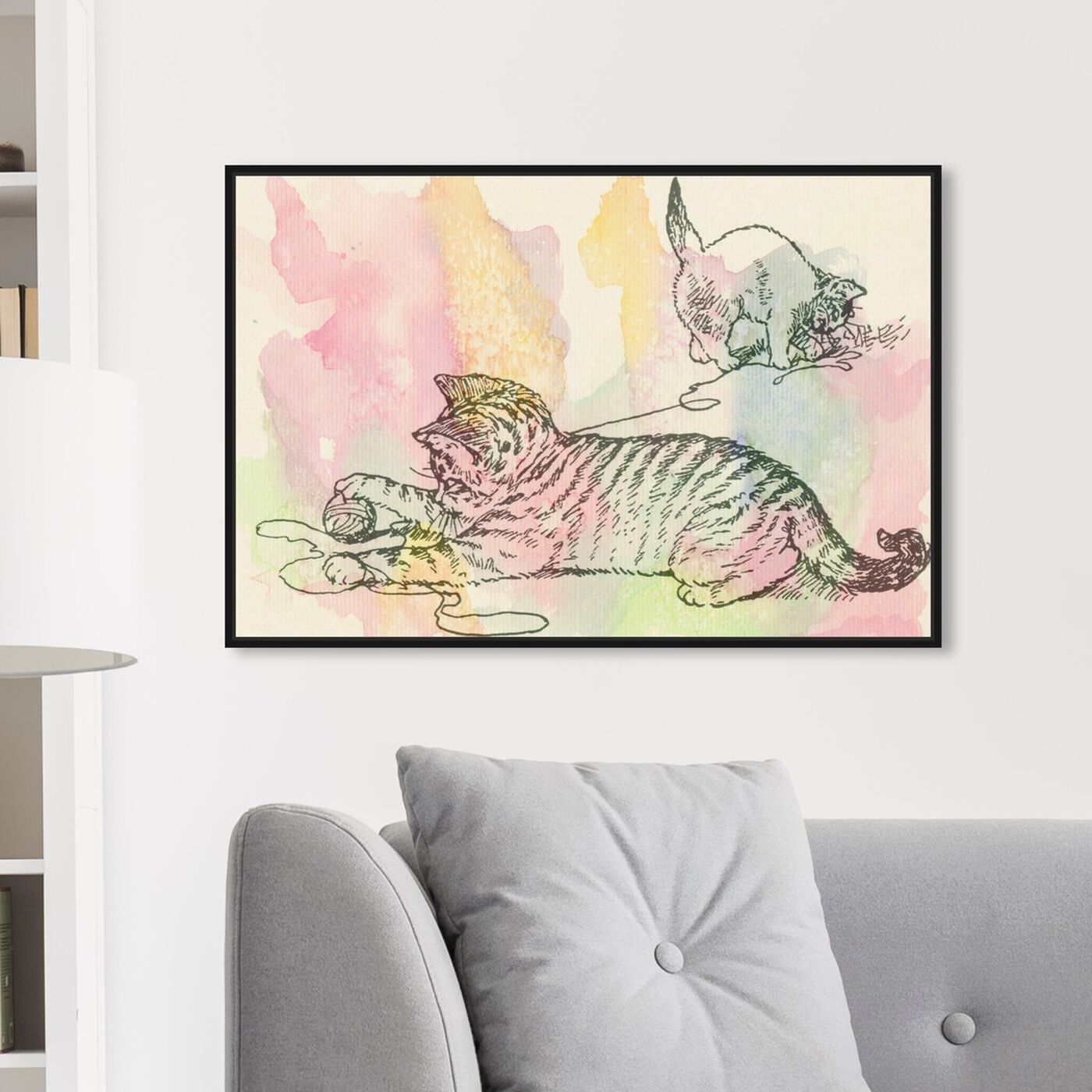 Hanging view of Kittens Love to Play featuring animals and cats and kitties art.