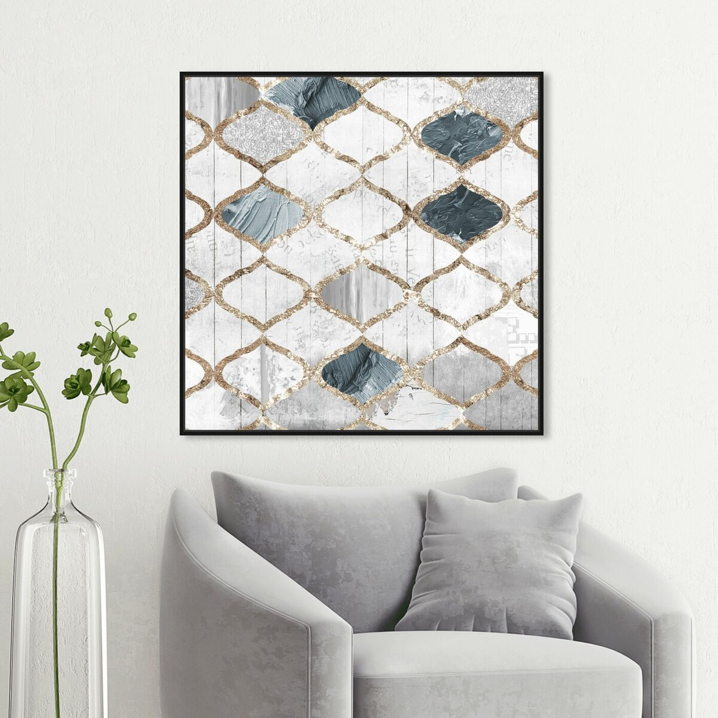 Hanging view of Modern Scandinavian featuring abstract and patterns art.