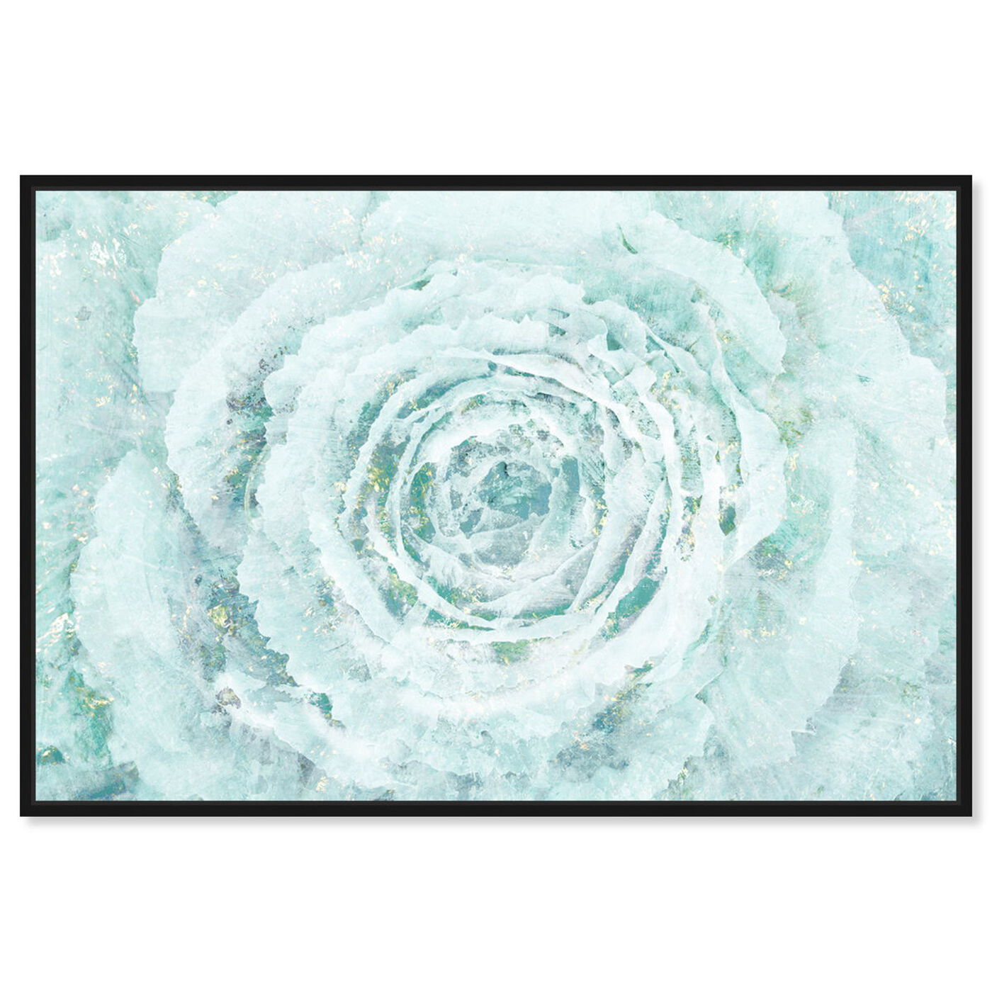 Front view of Blush Winter Flower featuring floral and botanical and florals art.
