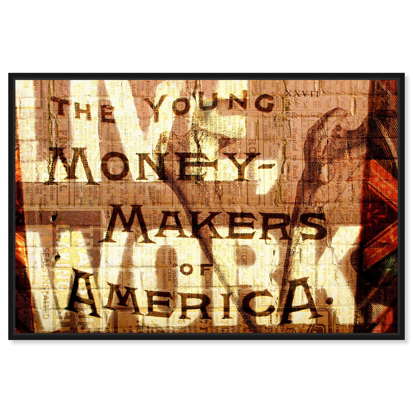 Front view of Young Money Makers featuring typography and quotes and inspirational quotes and sayings art.