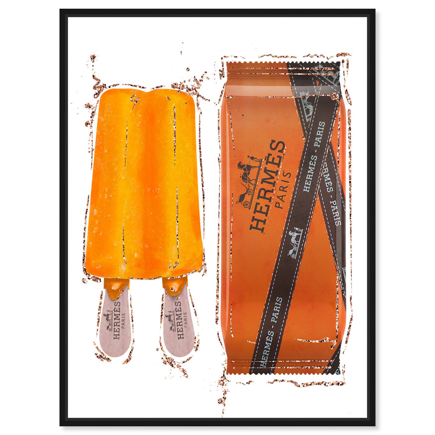 Front view of Sweet Fashion Orange Pop featuring fashion and glam and lifestyle art.