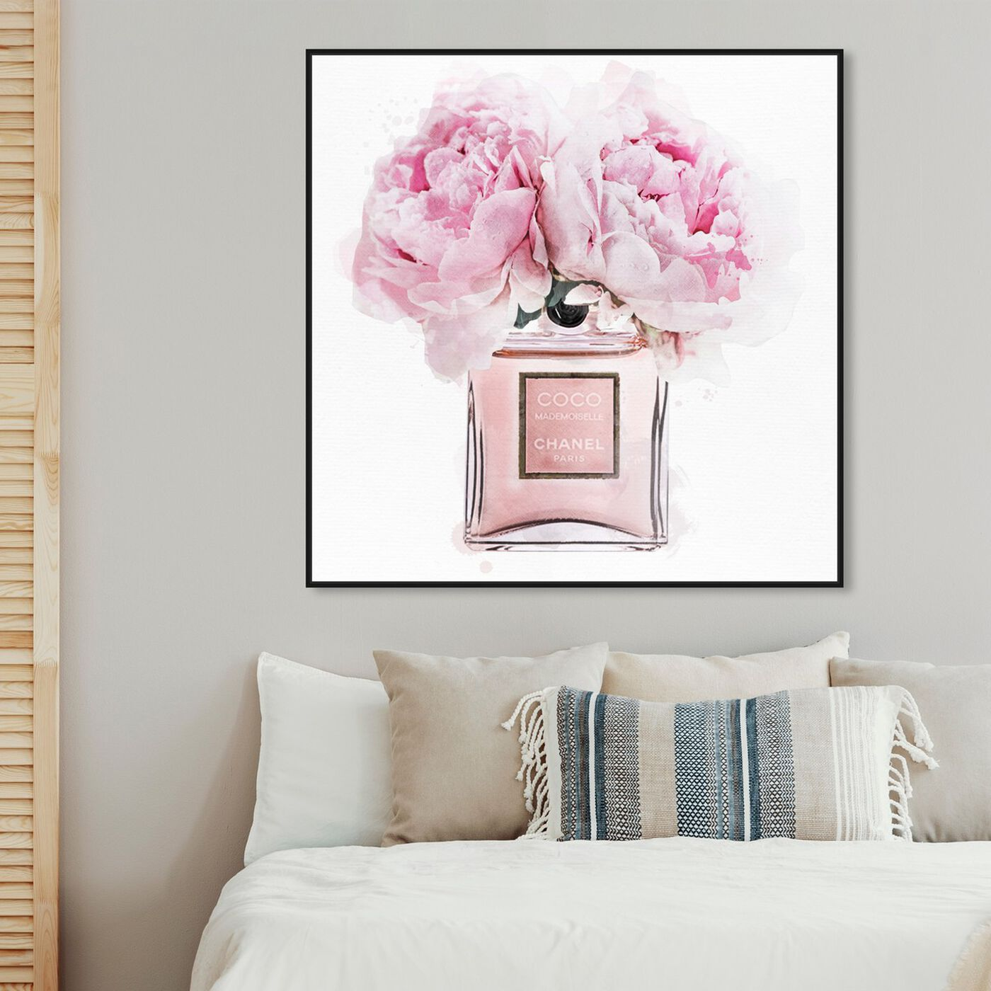 Hanging view of Dawn Morning Bouquet featuring fashion and glam and perfumes art.