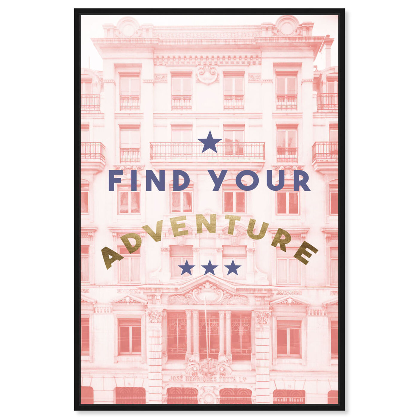 Front view of Find Your Adventure Blush featuring typography and quotes and motivational quotes and sayings art.