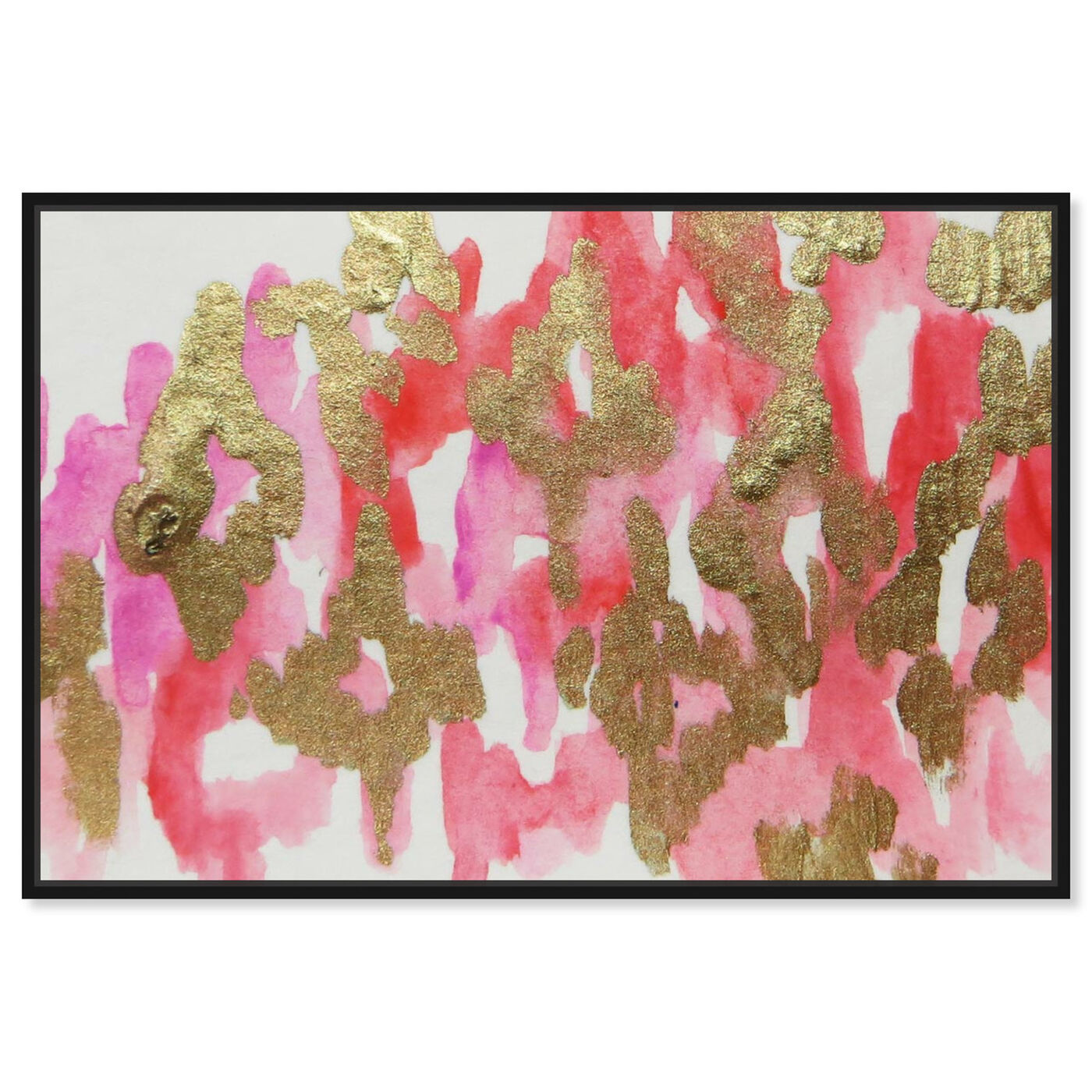 Front view of Pink Palais - Signature Collection featuring abstract and paint art.