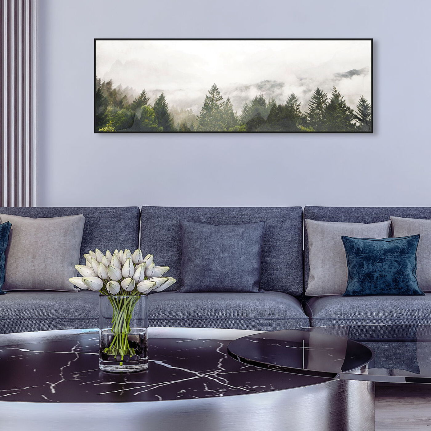 Hanging view of Look Out There featuring nature and landscape and forest landscapes art.