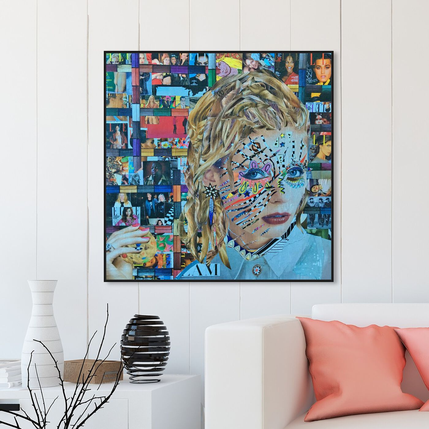 Hanging view of Elle by Katy Hirschfeld featuring fashion and glam and portraits art.