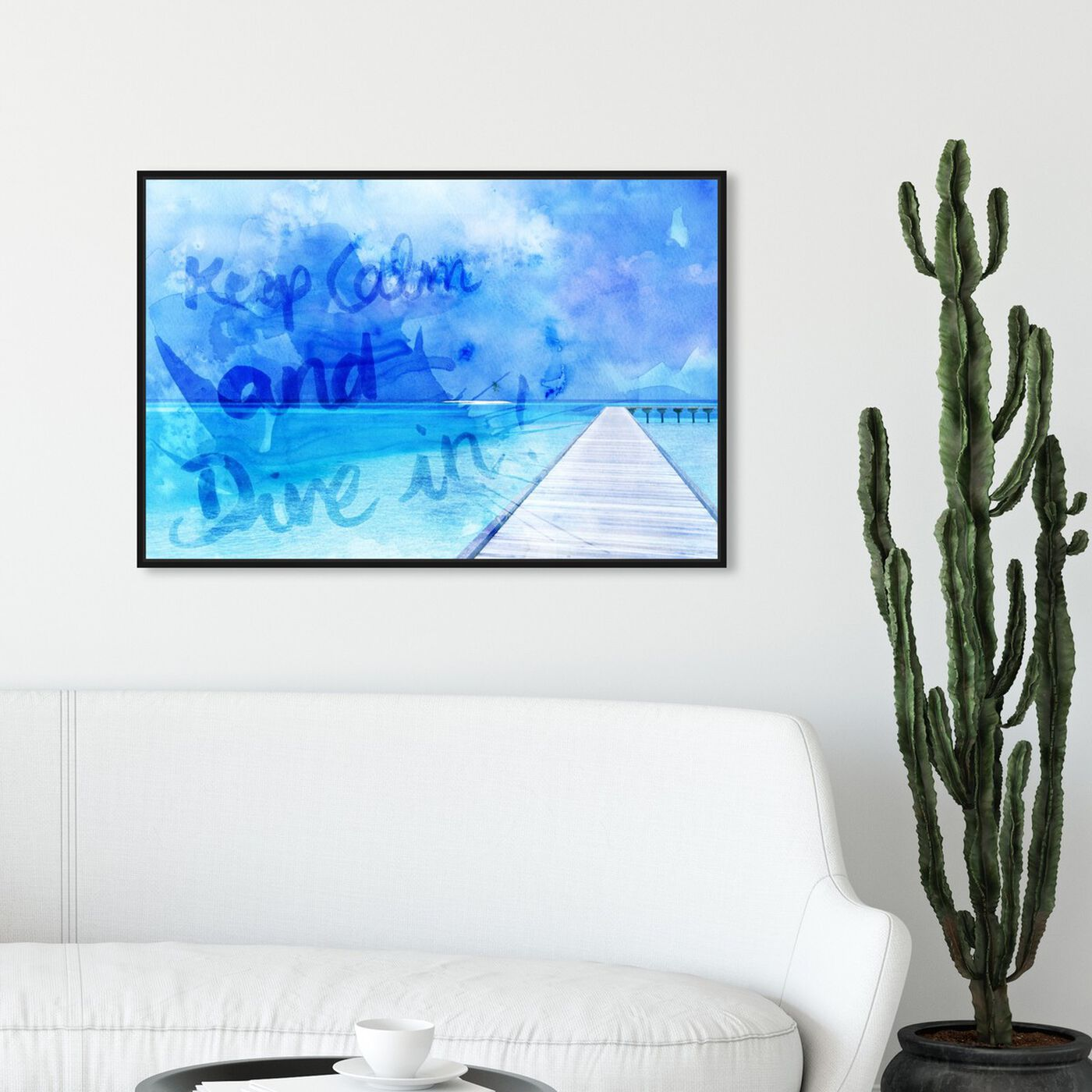 Hanging view of Dive In featuring typography and quotes and motivational quotes and sayings art.
