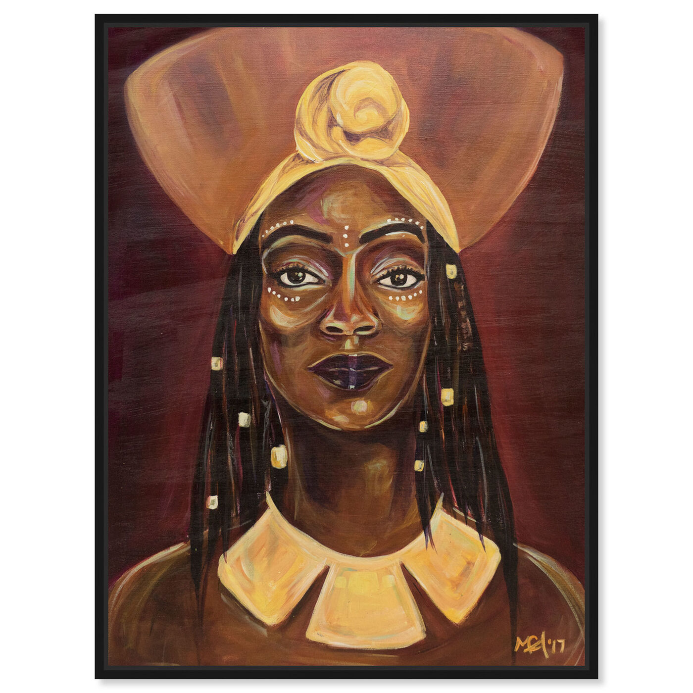 Front view of Marissa Anderson - Queen featuring people and portraits and portraits art.