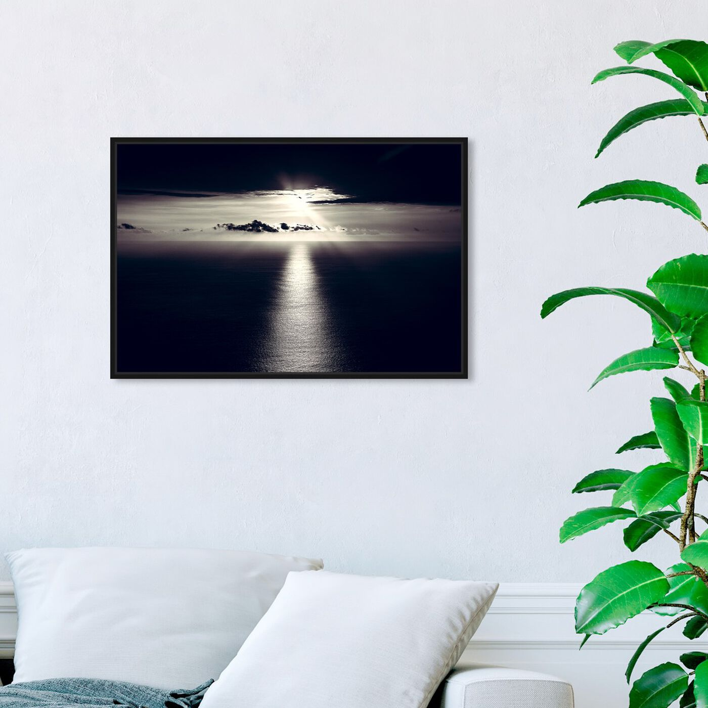 Hanging view of Curro Cardenal - Noir Sky featuring nautical and coastal and coastal art.