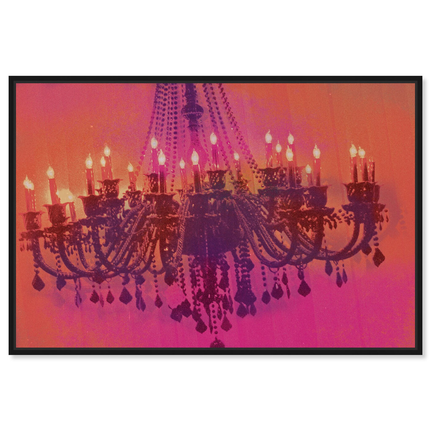 Front view of Light me up featuring fashion and glam and chandeliers art.