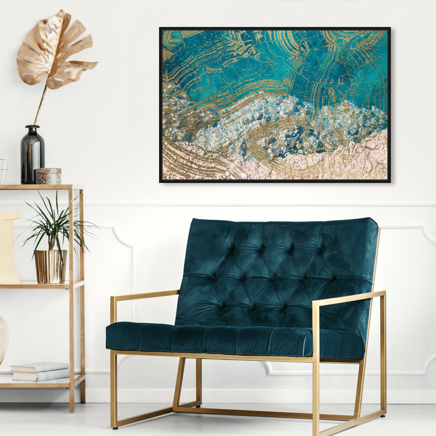 Hanging view of Salt Water featuring abstract and textures art.