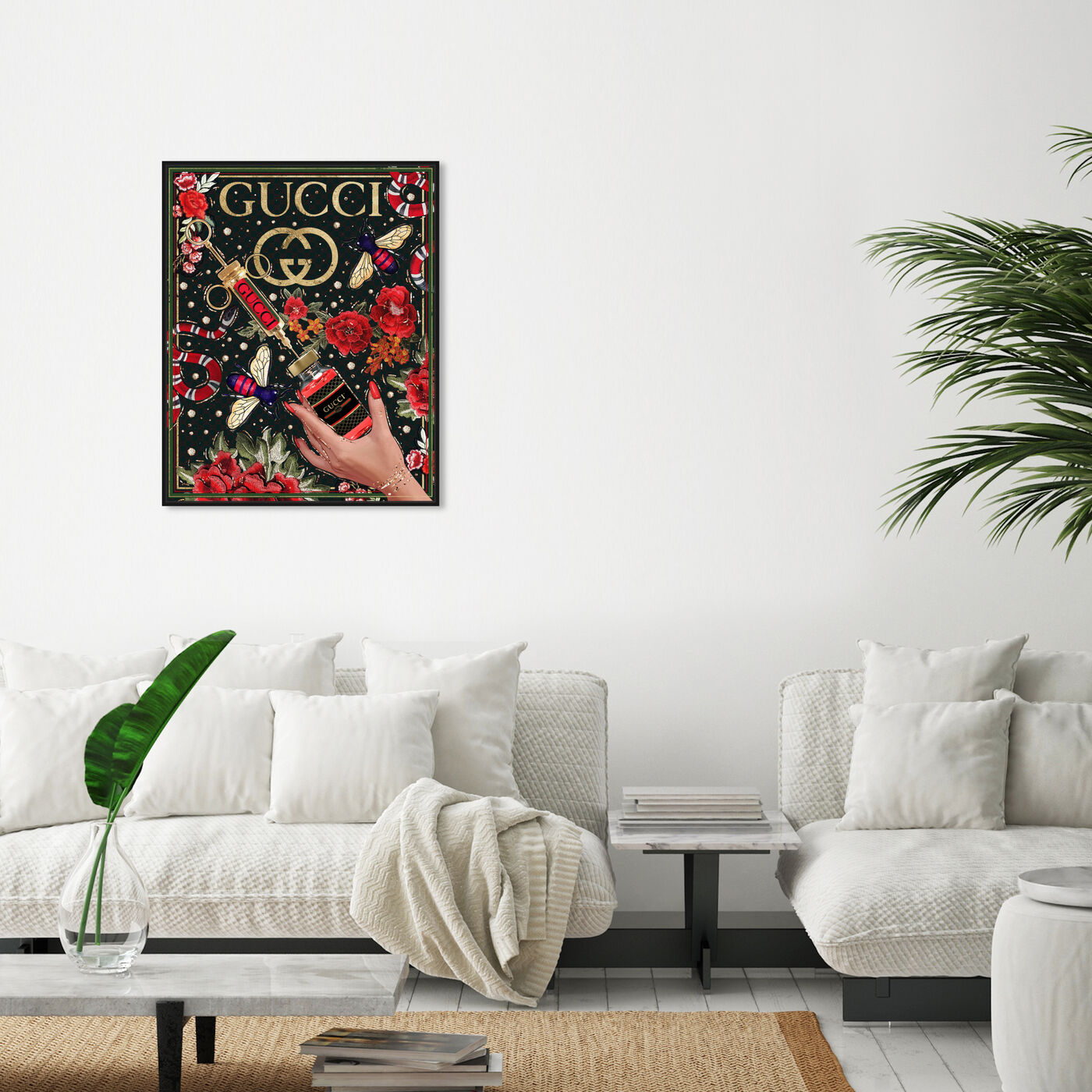 Hanging view of Red Still Life Injection featuring fashion and glam and fashion lifestyle art.