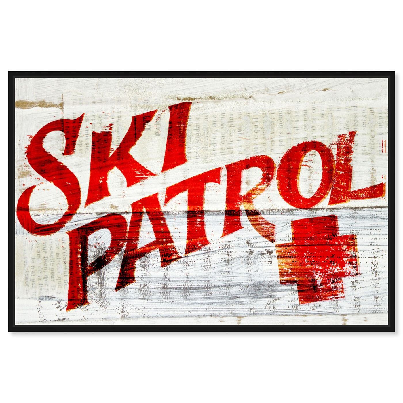 Front view of Ski Patrol Vintage featuring advertising and posters art.