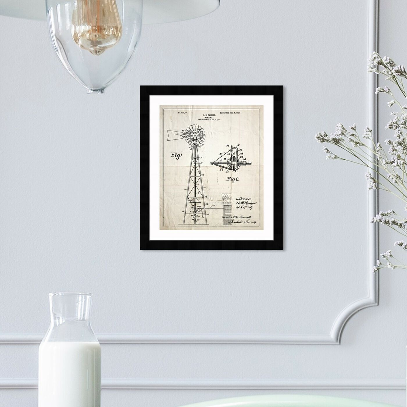 Hanging view of Windmill 1906 featuring architecture and buildings and structures art.
