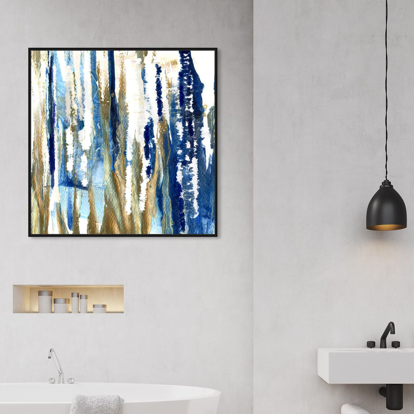 Hanging view of Take The Lead featuring abstract and paint art.