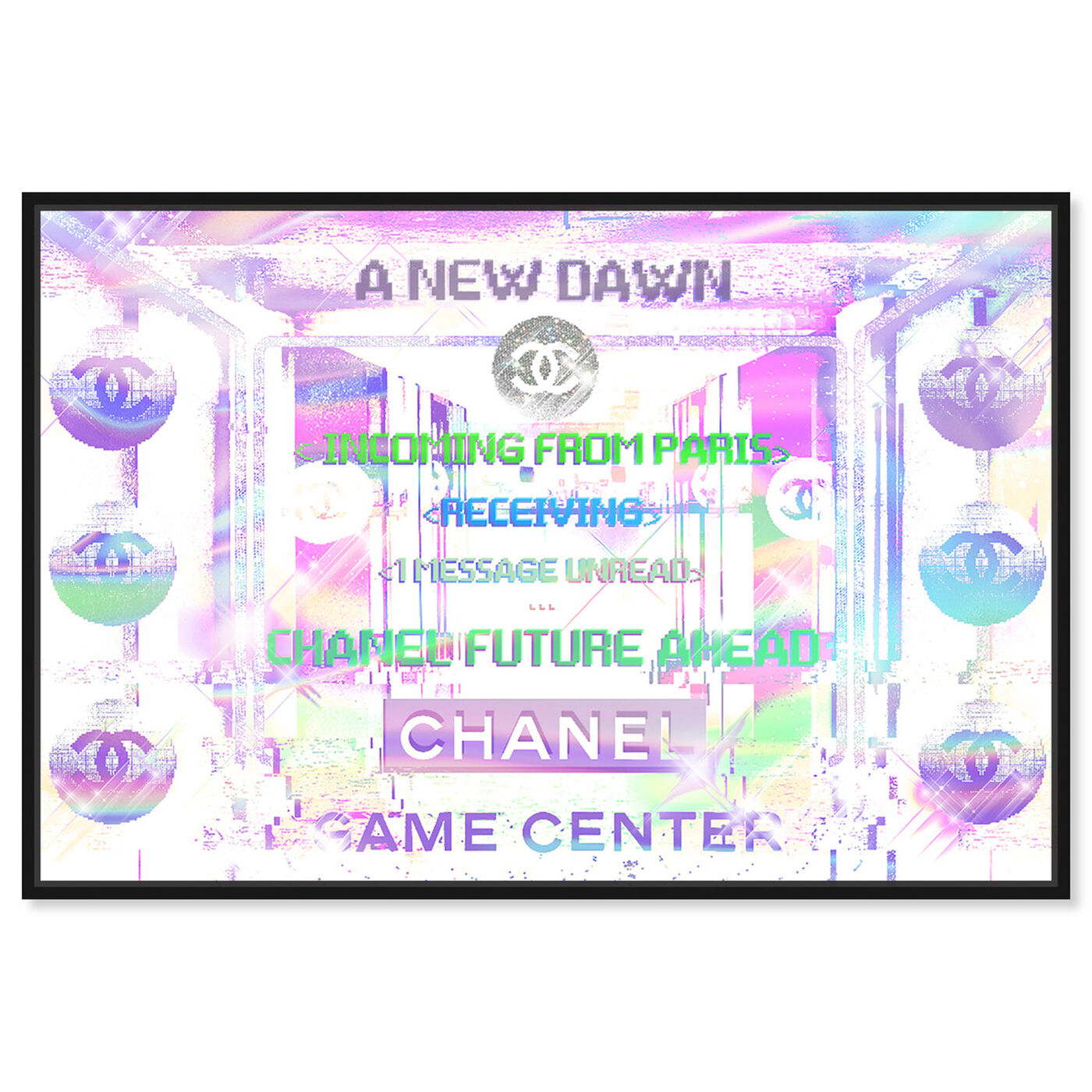 Front view of Parisian Game Center Holo art.