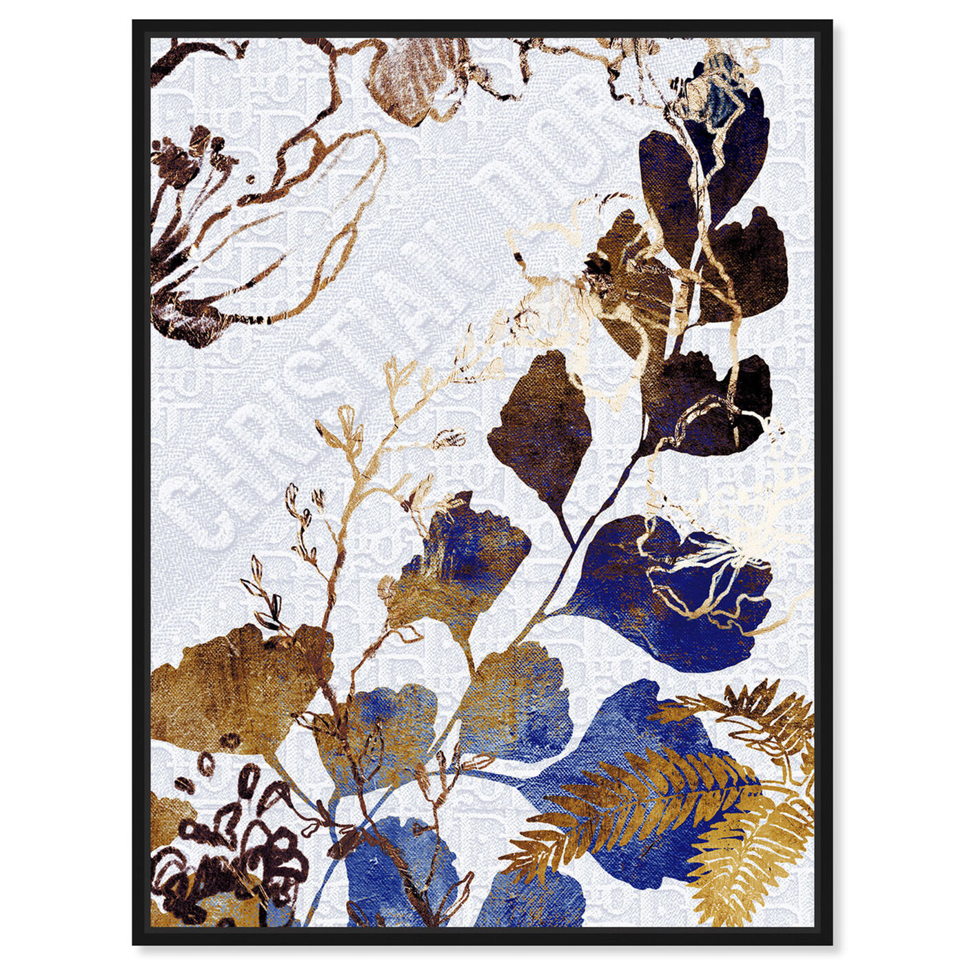 Front view of Indigo Blue Dreams featuring floral and botanical and botanicals art.