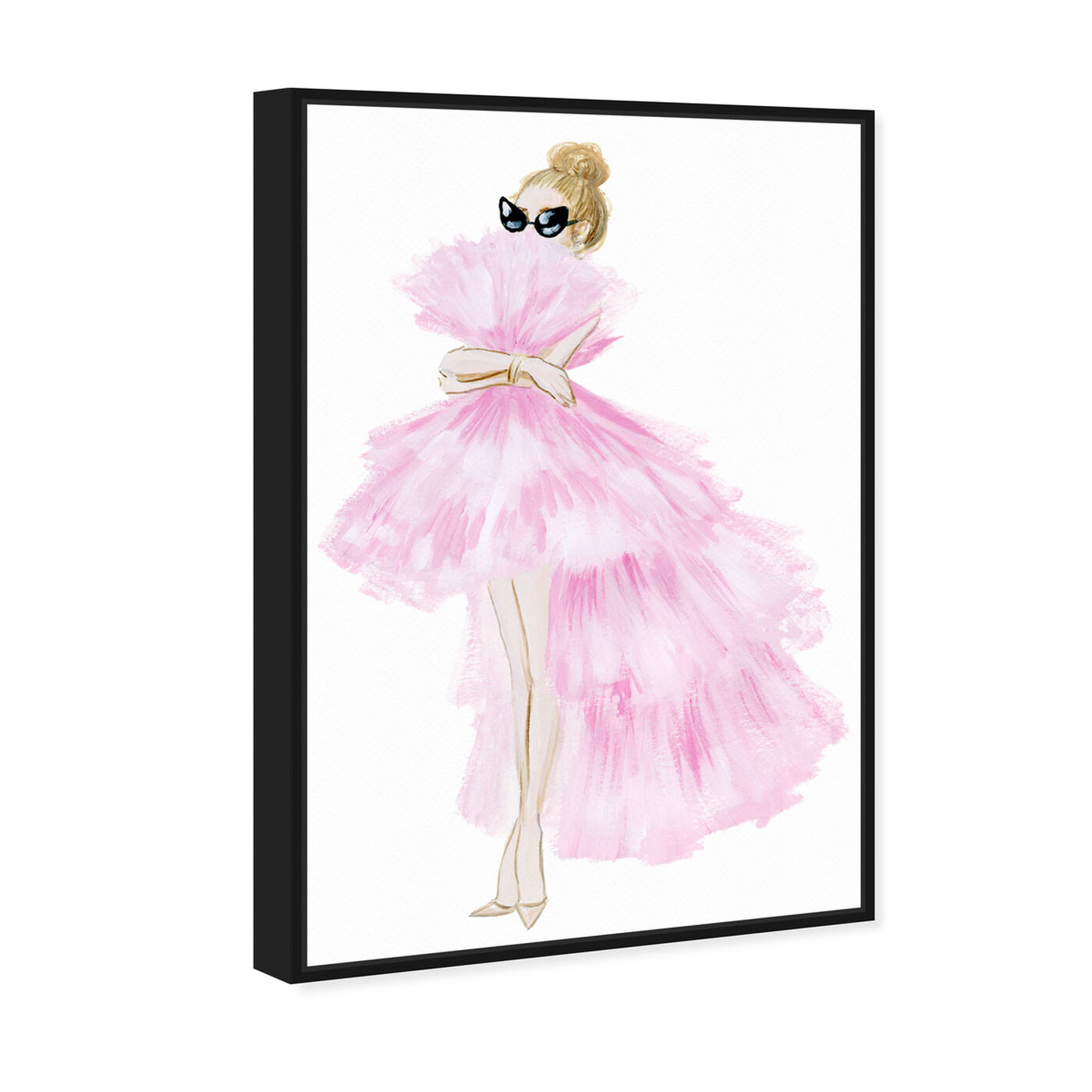 Angled view of Pink Tutu Dress featuring fashion and glam and dress art.