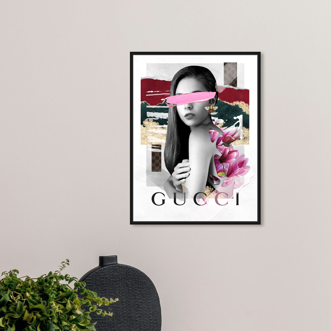 Hanging view of Trendy Lady II featuring fashion and glam and portraits art.