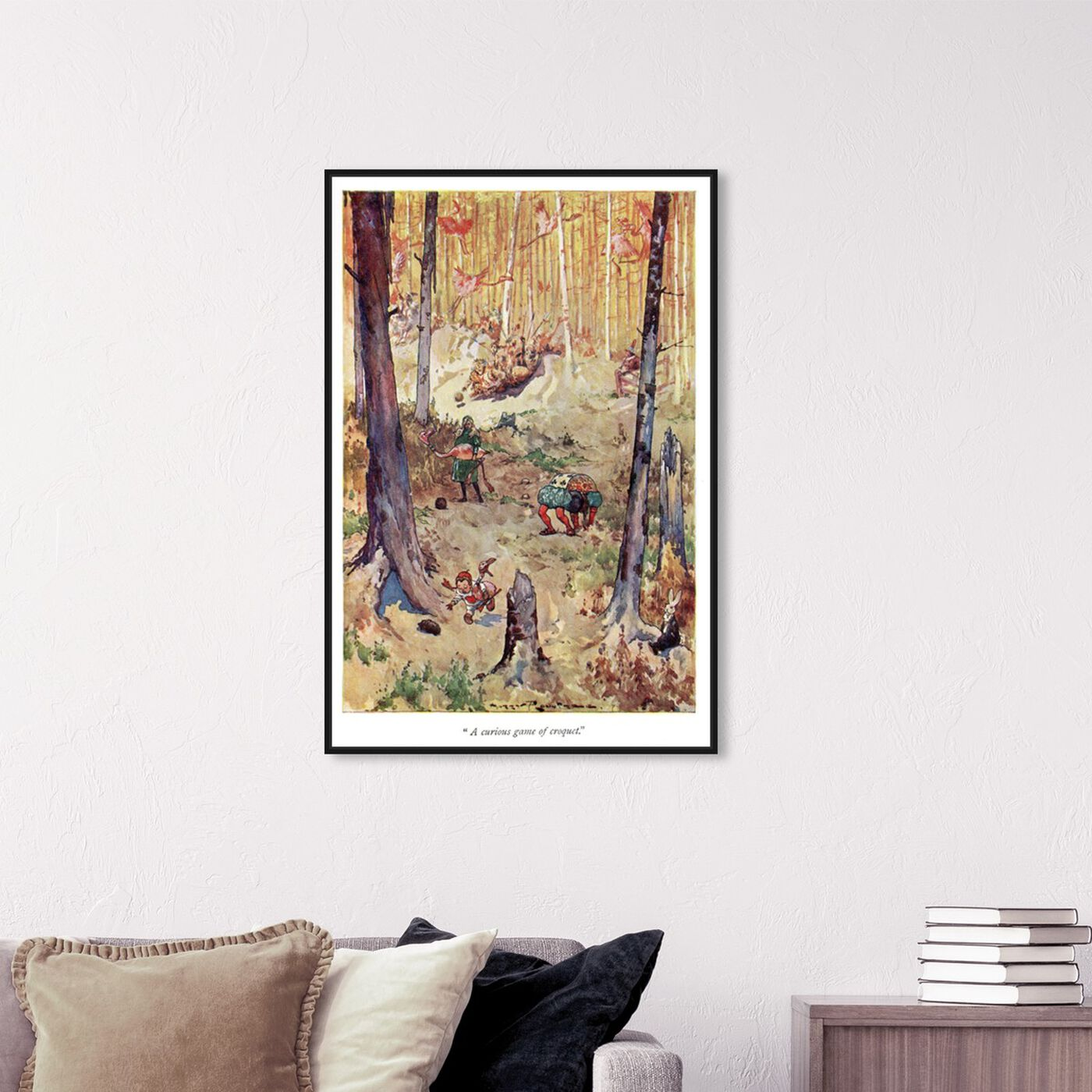 Hanging view of A Curious Game of Croquet featuring fantasy and sci-fi and fairy tales art.