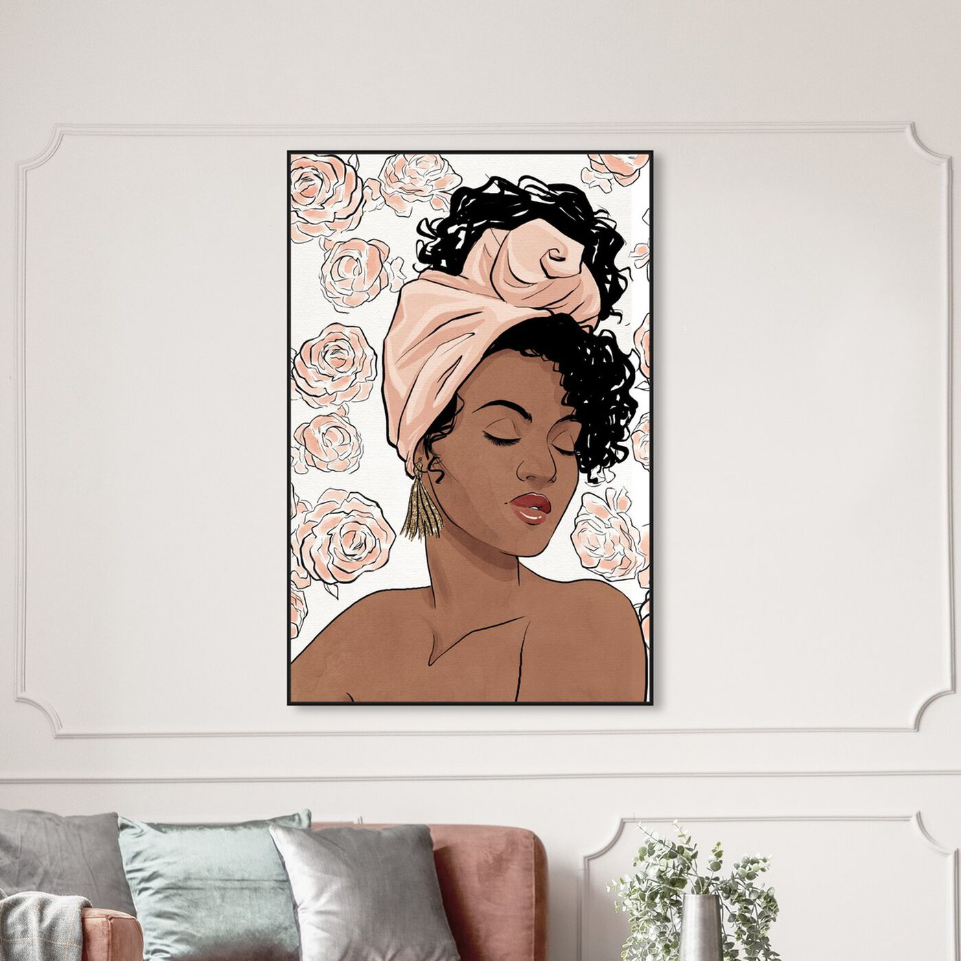 Hanging view of Flower Blush Girl featuring fashion and glam and portraits art.