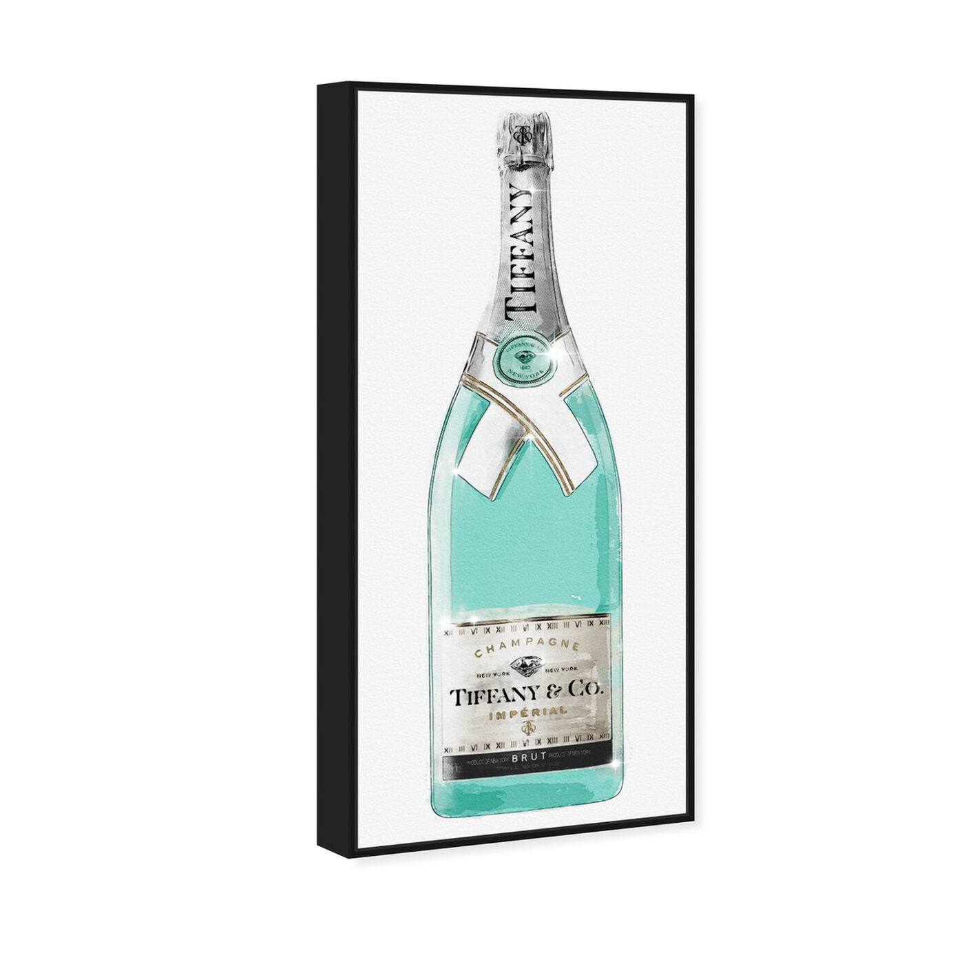 Angled view of Priceless Champagne Tall II featuring drinks and spirits and champagne art.