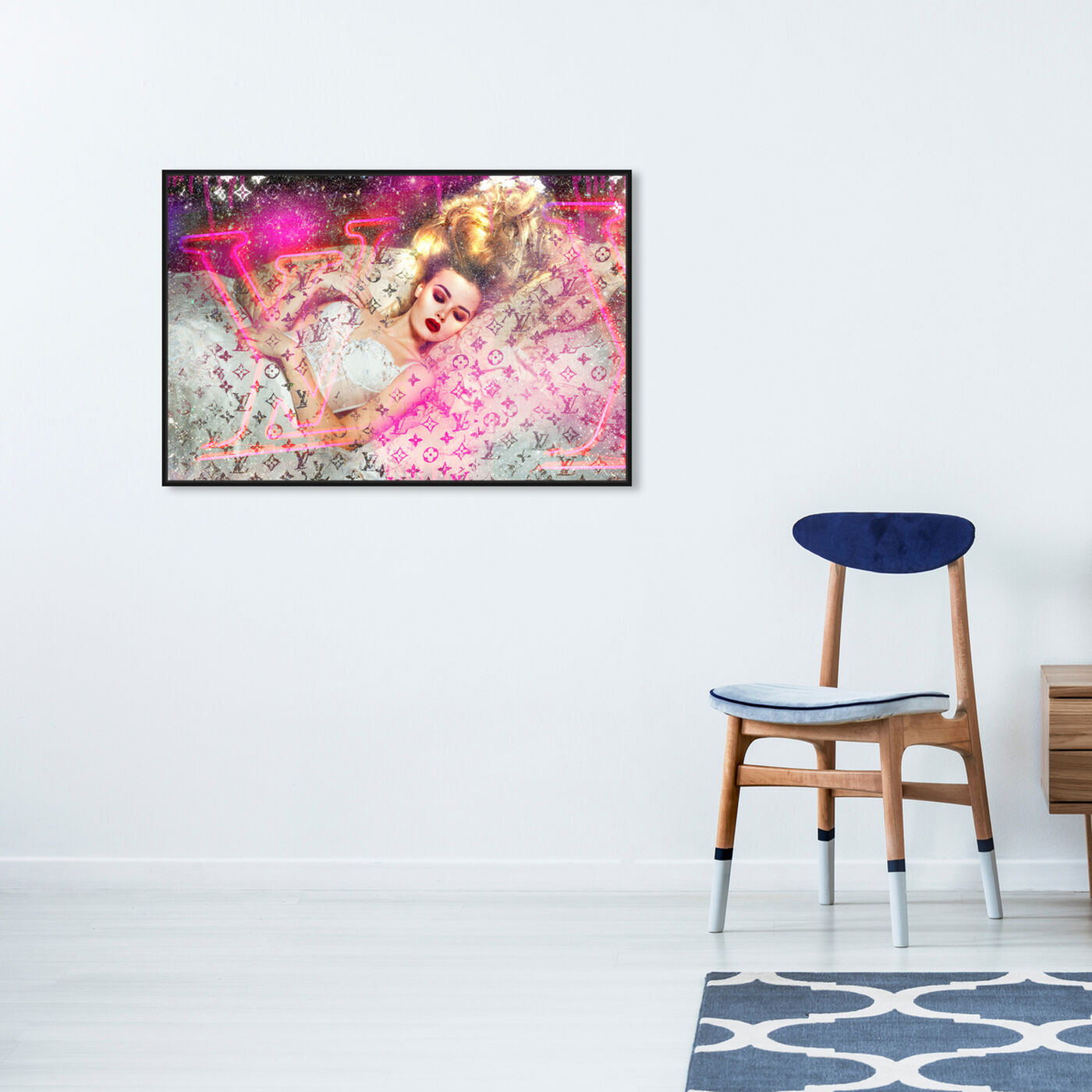 Hanging view of She's a Dreamer featuring fashion and glam and fashion lifestyle art.