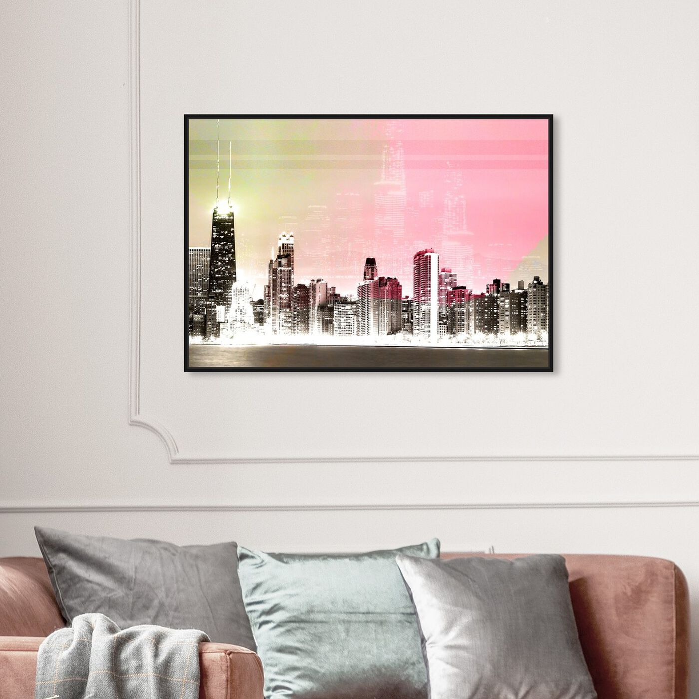 Hanging view of Bright Lights featuring cities and skylines and world cities art.