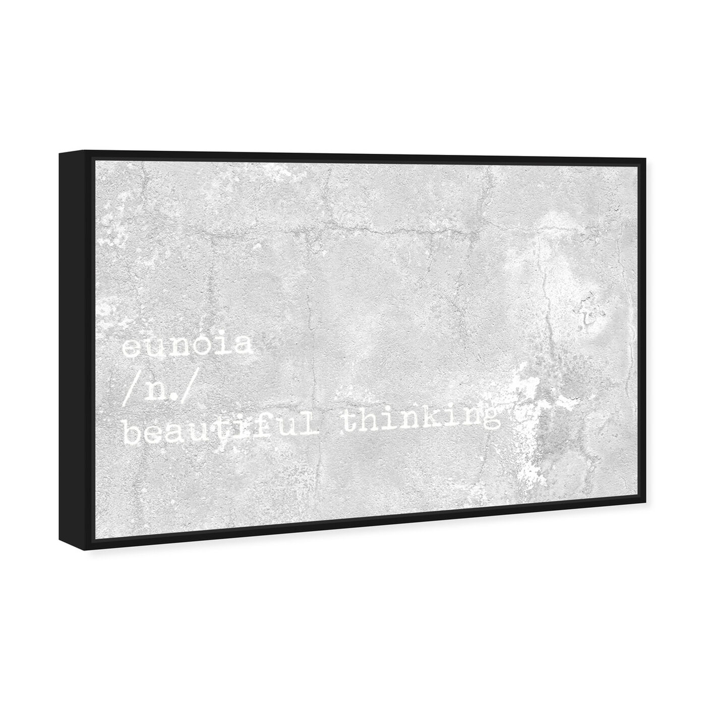 Angled view of Beautiful Thinking featuring typography and quotes and beauty quotes and sayings art.