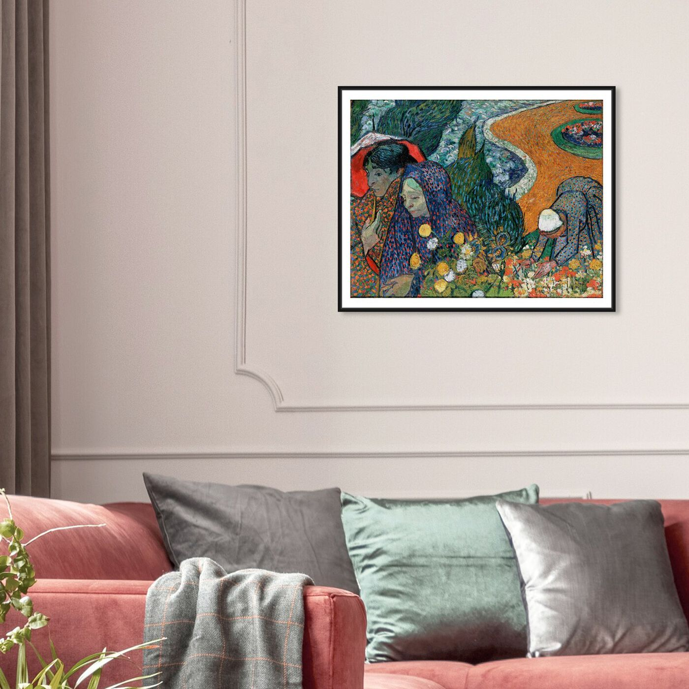 Hanging view of Van Gogh - Ladies of Arle featuring classic and figurative and classic art.