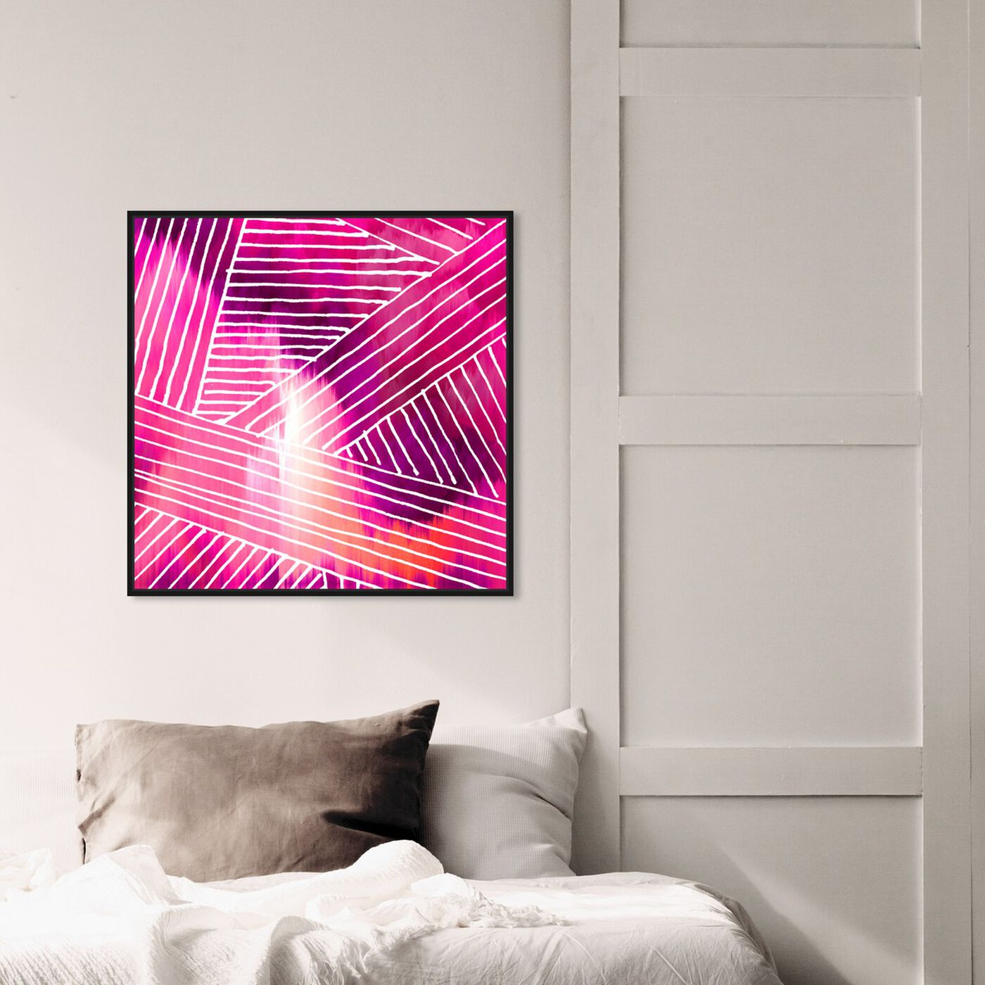 Hanging view of Chella featuring abstract and shapes art.