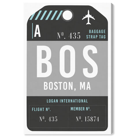 Boston Luggage Tag