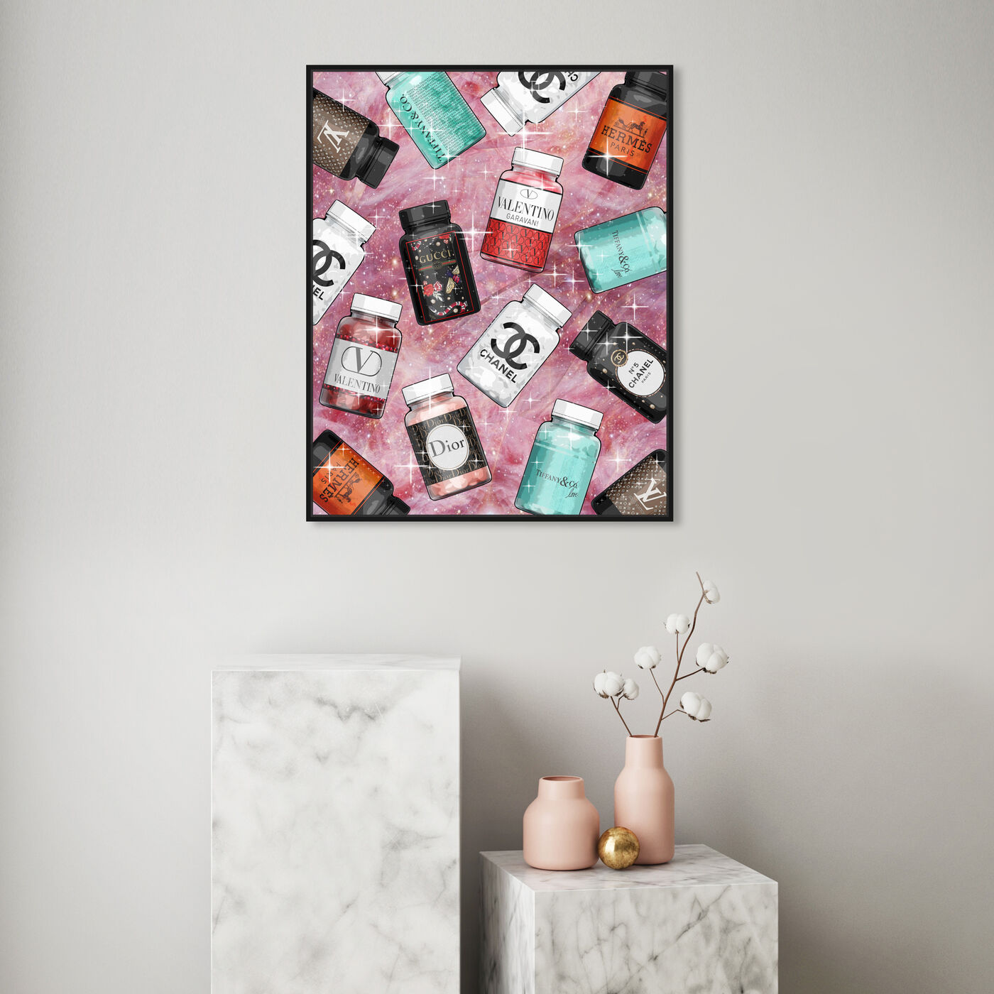Hanging view of Fashion Vitamines featuring fashion and glam and fashion lifestyle art.