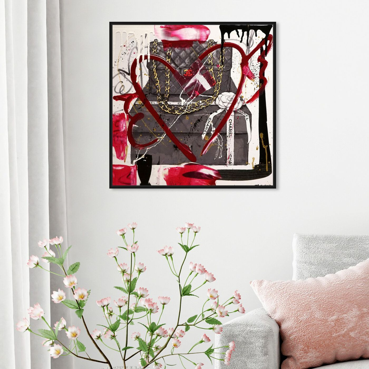 Hanging view of Boxed Beauty Remix featuring fashion and glam and handbags art.
