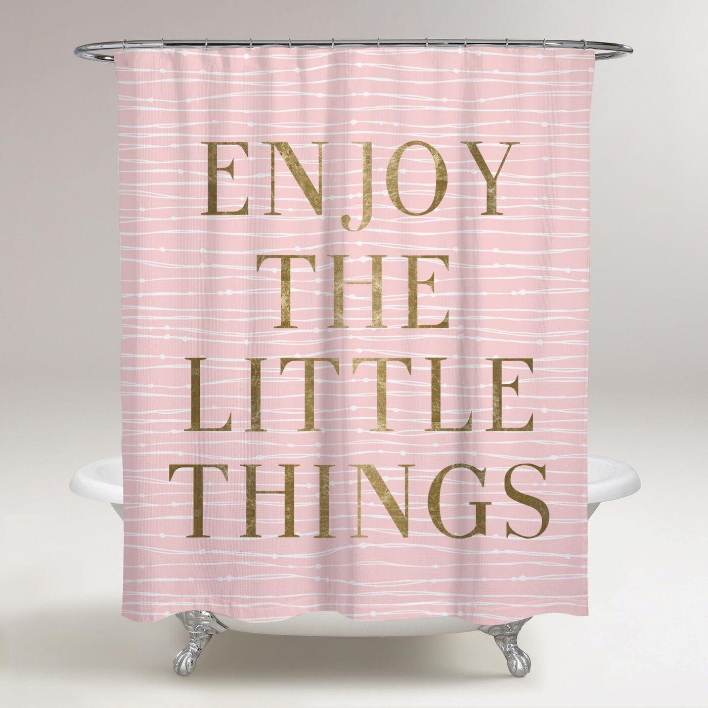 Enjoy Everything Shower Curtain