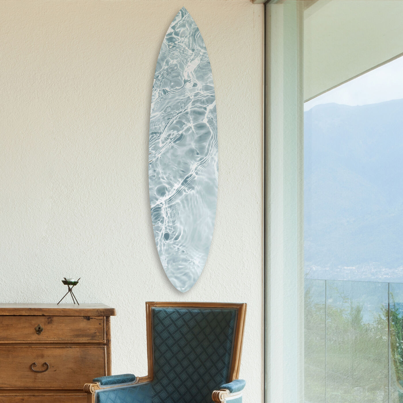 Calming Waves Clear Surfboard