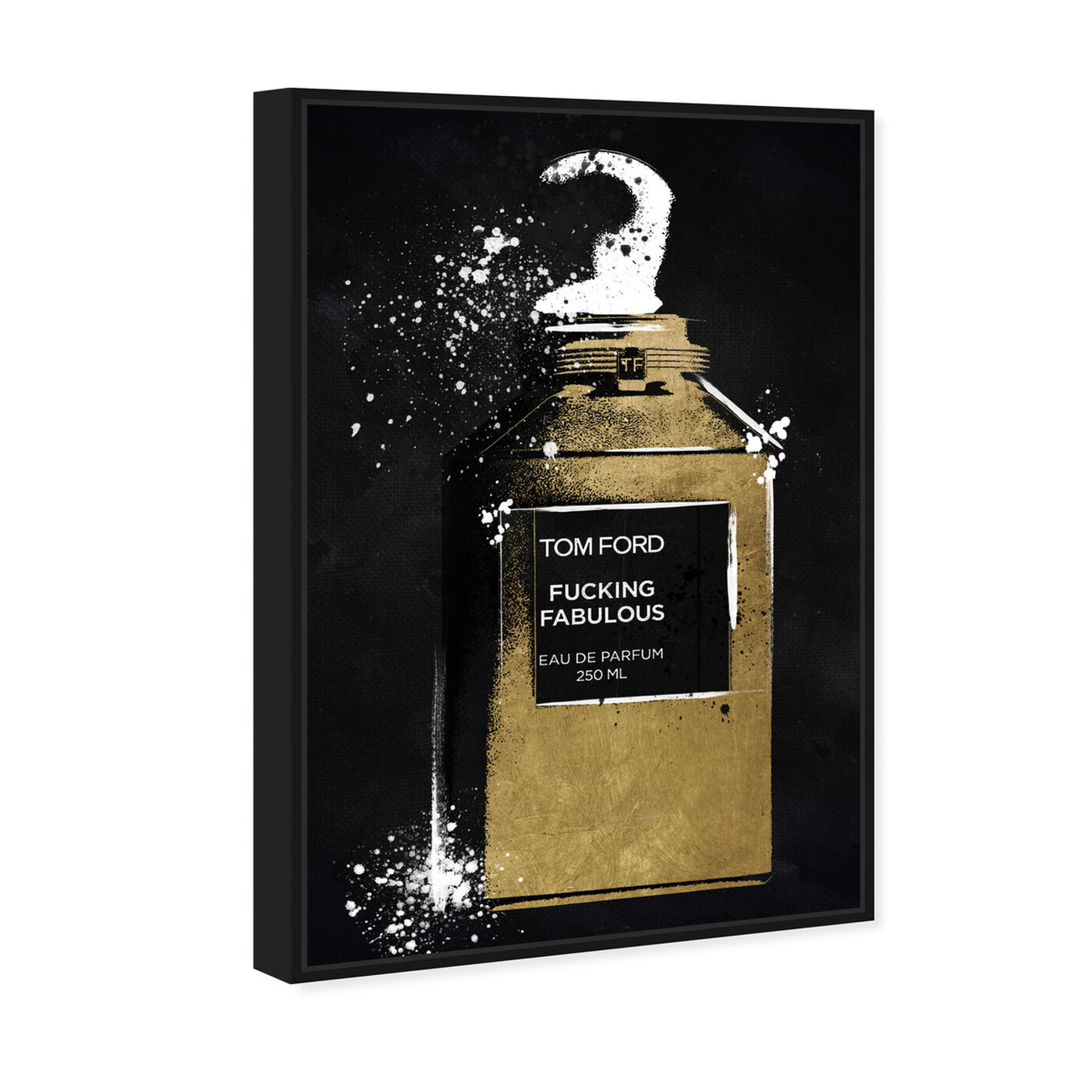 Angled view of Fabulous Noir Perfume featuring fashion and glam and perfumes art.