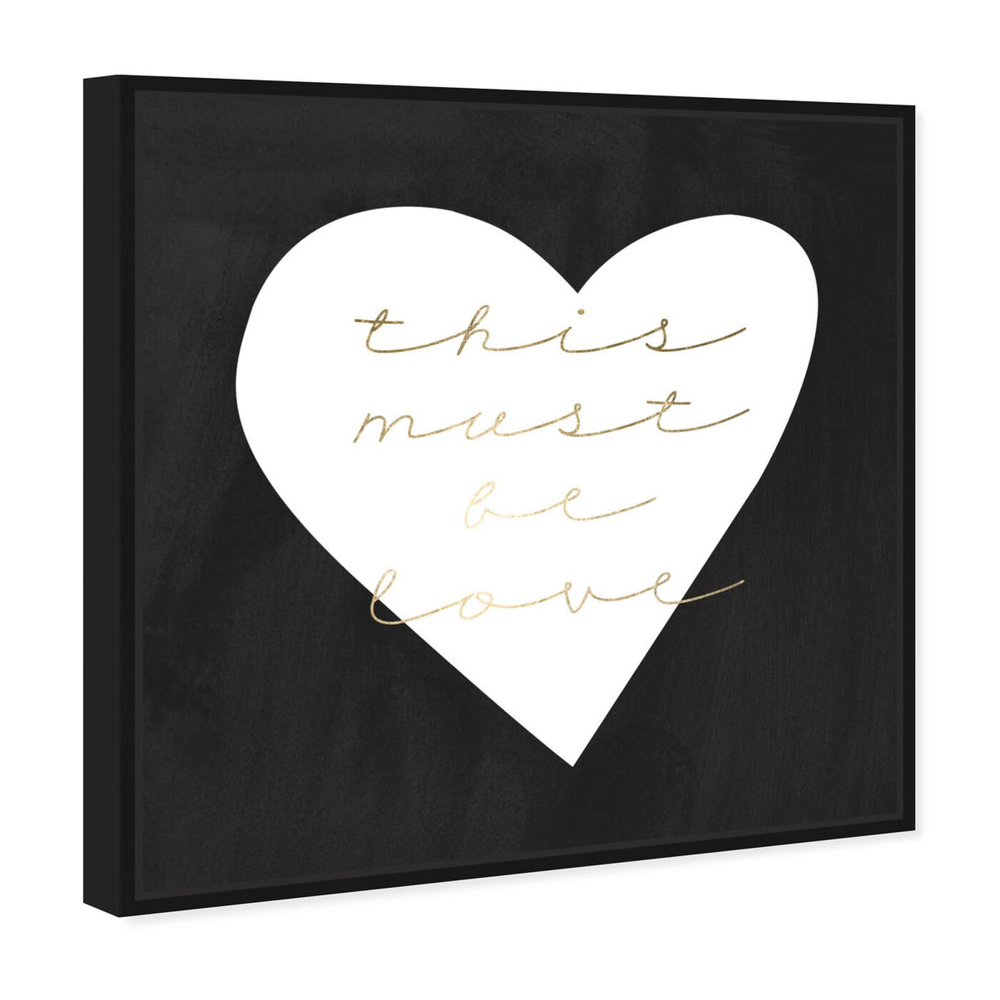 Angled view of Must be Love featuring typography and quotes and love quotes and sayings art.