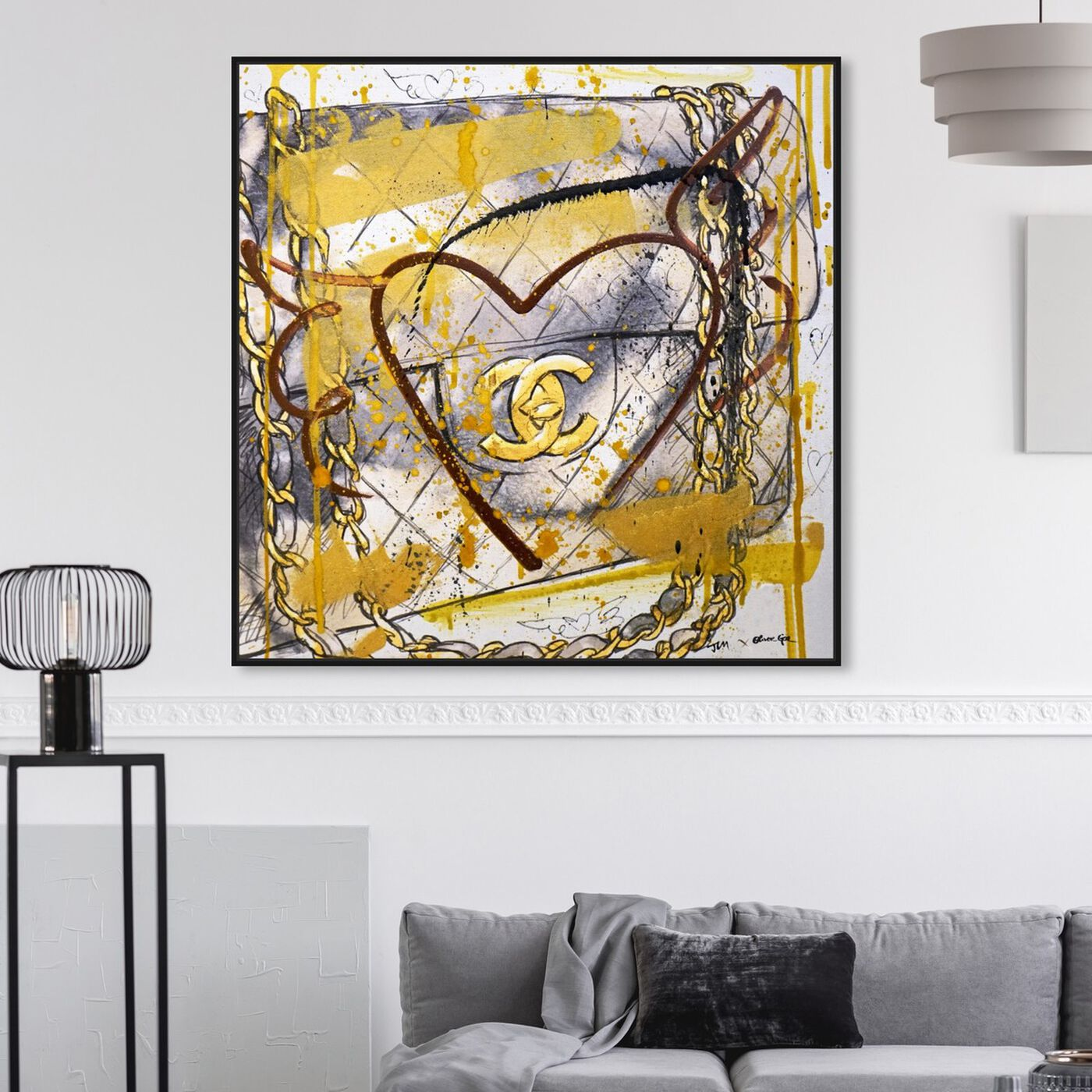 Hanging view of Pride and Joy Remix featuring fashion and glam and handbags art.