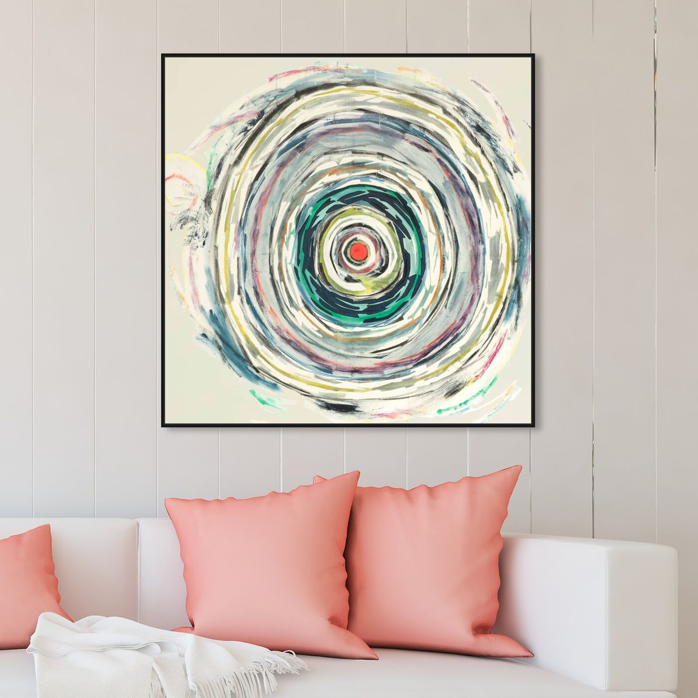 Hanging view of Sai - Pictis Spiralis III 1NM1760 featuring abstract and paint art.