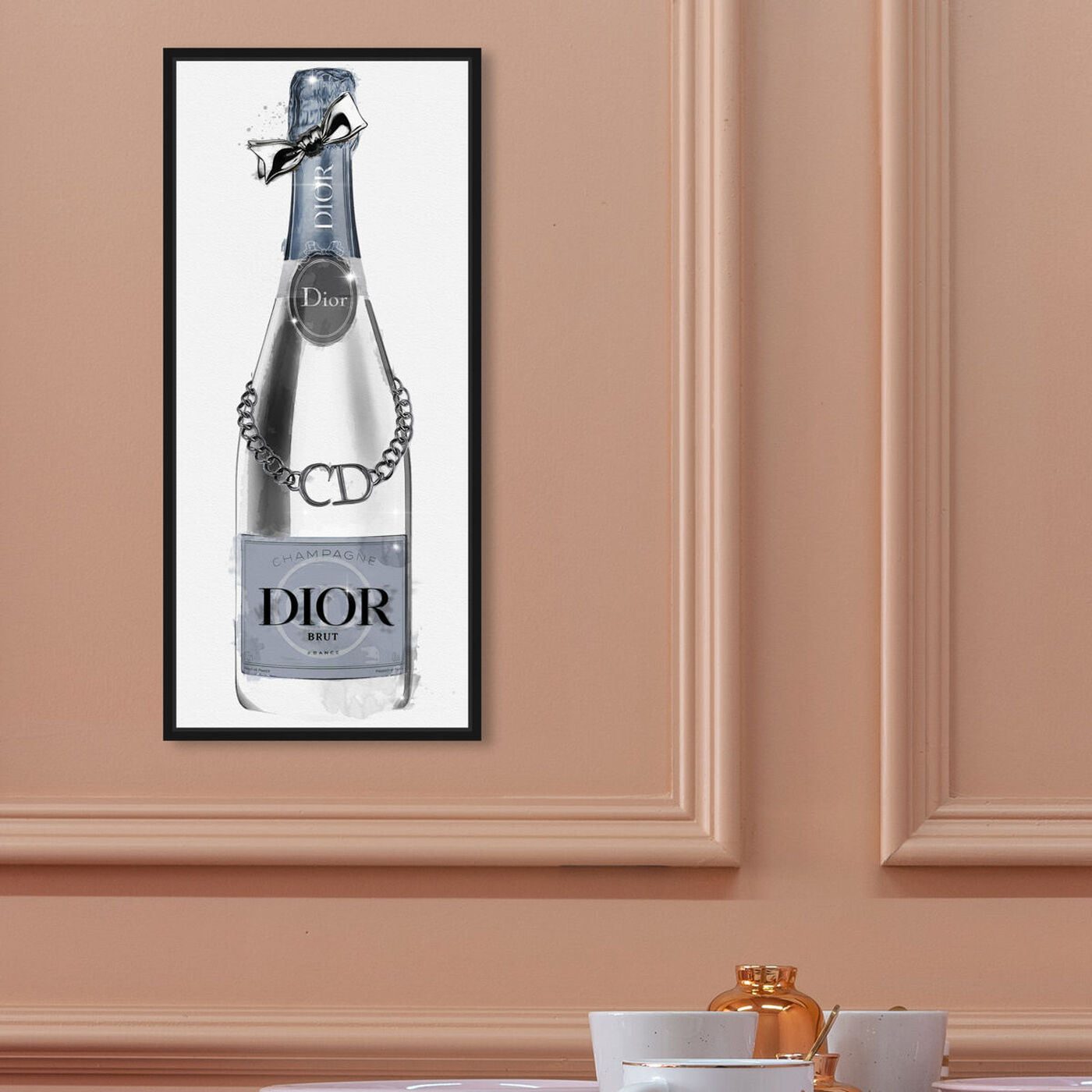 Hanging view of Champagne Brut de Paris featuring fashion and glam and fashion art.