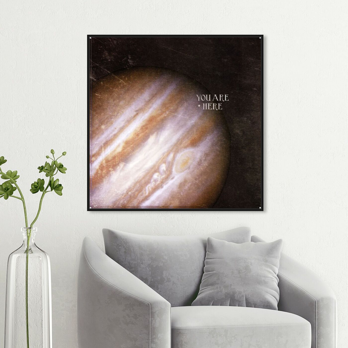 Hanging view of Jupiter featuring astronomy and space and planets art.